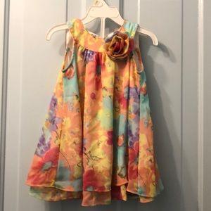 Sping dress pastel Blueberi Boulevard 2T polyester